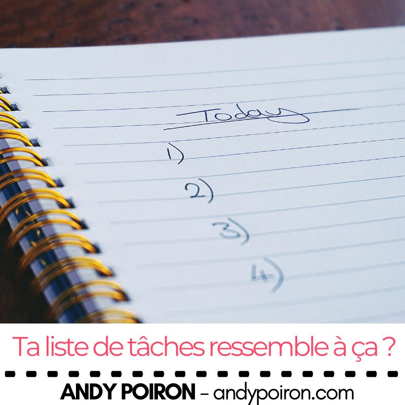 Ta liste de tâches ressemble à ça ?